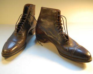Vintage Antike Lederschuhe,  Boots,  American Gentleman,  20er Jahre - Amerika Import Bild