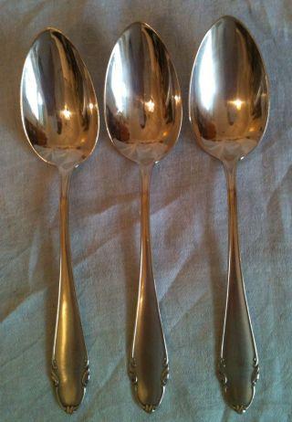 3 Vorlegelöffel Jugendstil Art Nouveau 800 Silber Cucchiaio Del Servizio Spoons Bild
