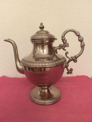 Schöne Versilberte Teekanne Bild
