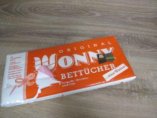 Wonny 2 Betttücher Bettlaken Weiß Baumwolle Unbenutzt A51 Bild