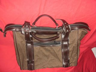Alte Tasche Reisetasche Groß Braun Koffer Dekoration Vintage Bild