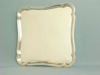 Tablett / Salver,  Massiv 833er Silber,  Holland 1919,  Van Kempen Bild