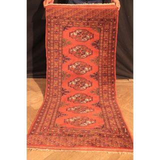 Schöner Feiner Handgeknüpfter Orient Teppich Buchara Jomut Rug Carpet 135x65cm Bild