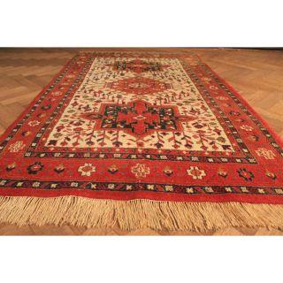 Schöner Handgeknüpfter Orient Teppich Heriz Tappeto Tapis Rug Carpet 210x130cm Bild