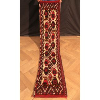 Feiner Handgeknüpfter Orient Teppich Turkman Jomut Tekke Tappeto Tapis 190x42cm Bild