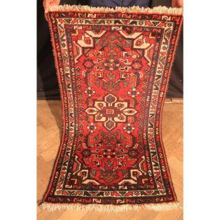 Feiner Handgeknüpfter Orient Blumen Teppich Malaya Old Rug Carpet Tapis 125x70cm Bild