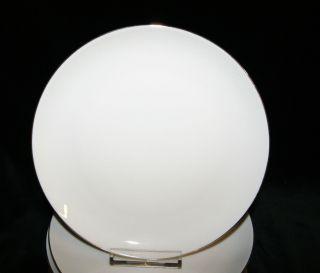 Eschenbach Porzellan Weiß Goldrand Dekor Kuchenteller Frühstücksteller Bild
