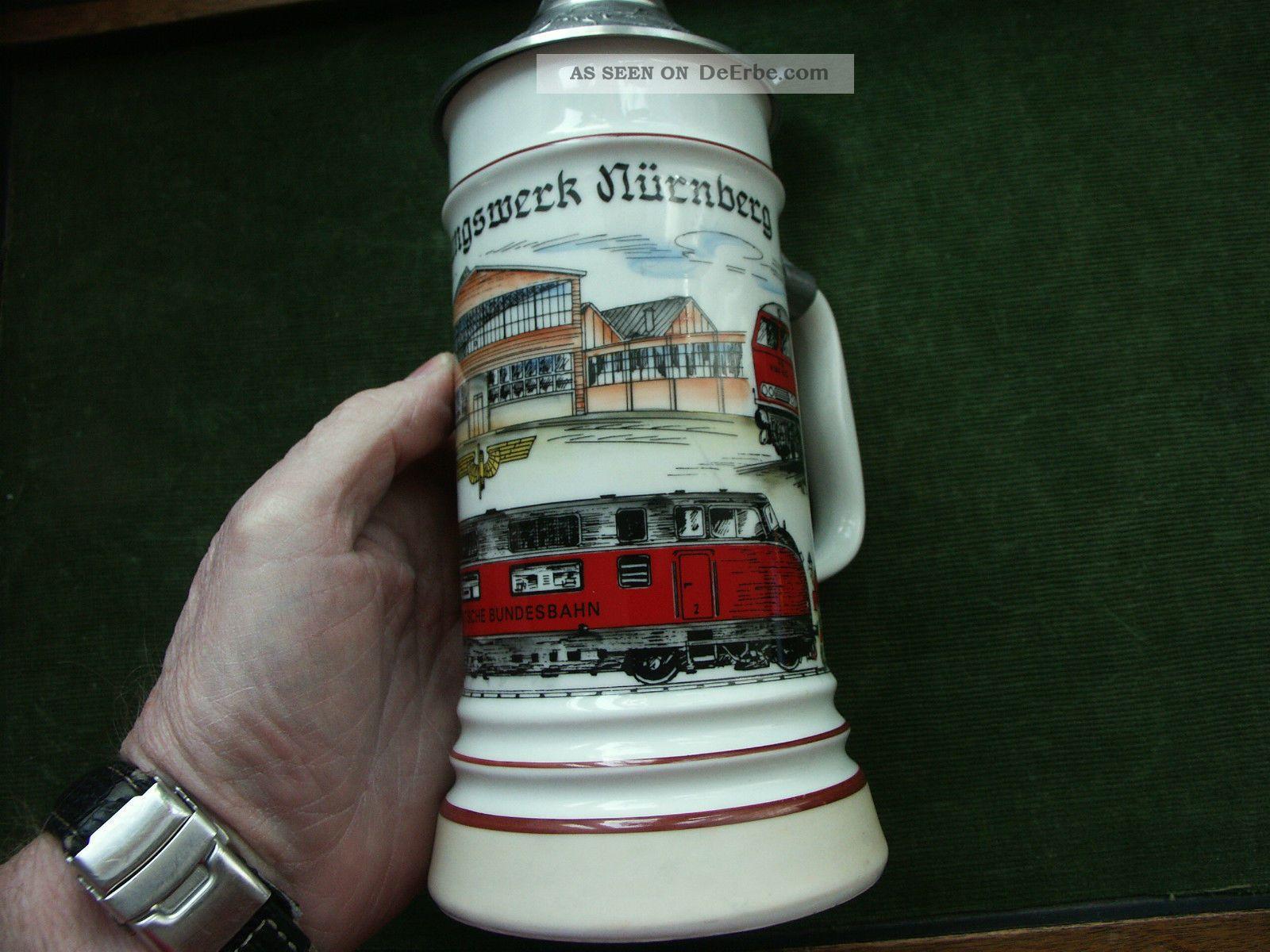 "Bierkrug Ca. 1982 "" Ausbesserungswerk NÜrnberg "", Eisenbahner"