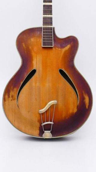 Archtop German Musima Record Old Guitar Alte Jazz Schlag Gitarre Vintage Antique Bild