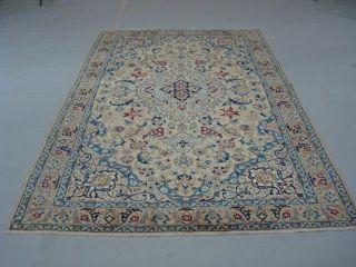 Wunderschöner Handgeknüpfter Perser Teppich Nain Korkwolle Mit Seide 210x135cm Bild