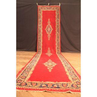 Schöner Alter Handgeknüpfter Orient Teppich Blumen Kork Sa Rug Carpet 485x105cm Bild