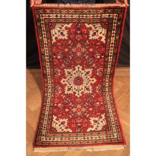 Alter Handgeknüpfter Orient Teppich Kurde Carpet Heriz Rare Old Sa Rug 135x75cm Bild