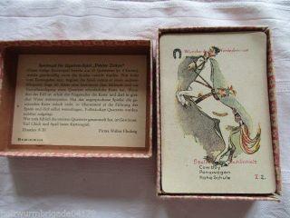 Altes Kartenspiel Quartett Fideler Zirkus Walter Flechsig Dresden 40/50er Jahre Bild