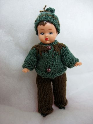 Puppenstube - Puppe - Püppchen 9 Cm Groß Bild