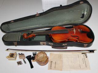 Alte Geige Violine Antique Violin To Restore Wilhelm Kruse Markneukirchen 1929 Bild