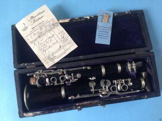 Musikinstrument B - Klarinette Holzblasinstument Musikinstrument Bayreuth Re.  1900 Bild