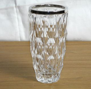 Emil Hermann Vase Kristallvase Silbermontur Silber 800,  16 Cm Bild