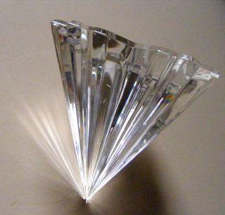 Villeroy & Boch Kristall Briefbeschwerer Paperweight Pyramide Klar 10 Cm Hoch Bild