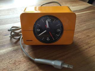 Krups Uhrwecker,  Typ 672,  Elektrisch,  Retro,  70er Jahre Bild
