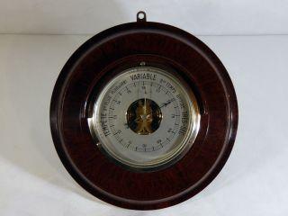 Sehr Seltener Französischer Art Deco Barometer - Ca.  1920 - Bakelit / Bakelite Bild