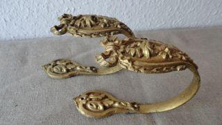 Frankreich: Ein Paar Kleine Raffhalter - Gardinenhalter - Bronze - Messing Um 1900 Bild