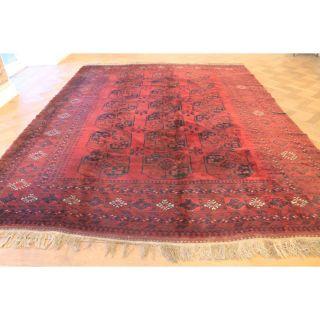 Alter Handgeknüpfter Orient Teppich Old Afghan Art Deco Old Rug Carpet 355x265cm Bild