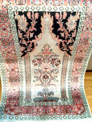 Handgeknüpft Orientteppich Teppich Seide 96x62 Cm Carpet Tappeto Tapis Top3900, Bild