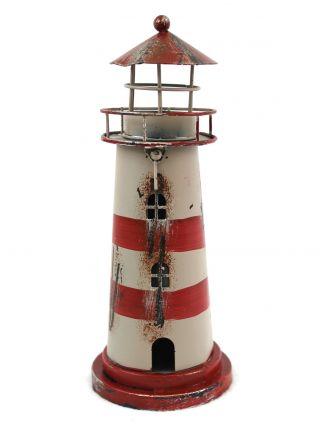 Deko Leuchtturm Teelichthalter Blech Metall 23cm Bild