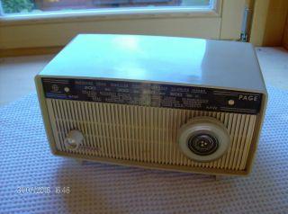 Röhrenradio Klein,  Hornyphon W 145 V,  Page Mw,  Funktioniert,  Farbe Elfenbein Bild