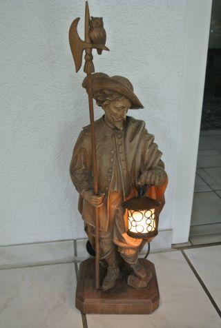 Holzschnitzerei,  Nachtwächter,  A.  Ohmayer,  Bildhauer,  Oberstdorf,  H = 60 Cm Bild