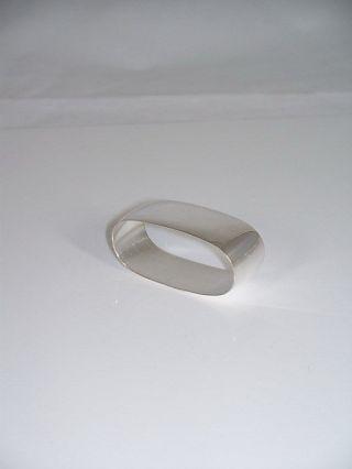Silber 925 Serviettenring Oval Schlicht Punziert 5,  4x2,  4 Cm.  Serviettenringe Bild