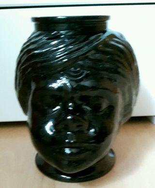 Glaskopf Blumenvase,  Übertopf,  70er,  Rarität Bild