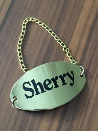 Sherry Flaschen - Etikett / Emblem / Schild Messing Bild