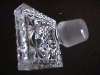 Alte Rechteckige Whiskyflasche Karaffe Bleikristall,  Lausitzer Glas Bild