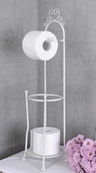 Toilettenpapierhalter Landhausstil Wc Rollenhalter Weiss Klopapierhalter Bild