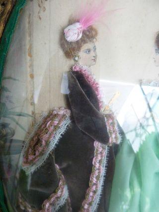 Bild,  Pariser Mode,  Sehr Alt,  Paris,  RaritÄt,  Frauen In Barock - Mode Bild