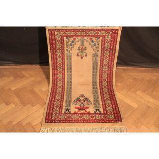 Edel Handgeknüpft Orient Buchara Jomut Gebets Teppich Carpet Tappeto 80x150cm Bild