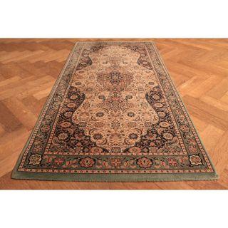 Gewebter Orient Teppich Kum Herati Nain Design Tappeto Tapis Rug Carpet 160x80cm Bild