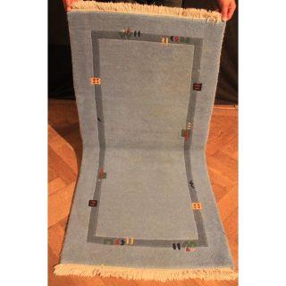 Alter Handgeknüpfter Orient Teppich Nepal Gabbeh Carpet Tapis Tapijt 140x70cm Bild