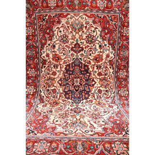 Königlicher Feiner Handgeknüpfter Orient Blumen Teppich Saruqh Kork Rug 160x90cm Bild