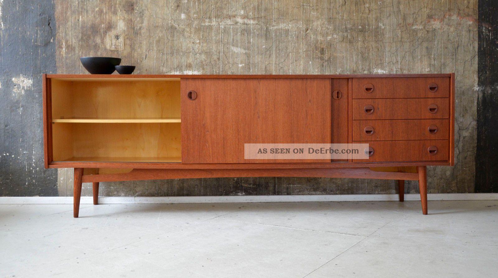 60er teak sideboard kommode midcentury 60s vintage credenza cabinet teakwood. Black Bedroom Furniture Sets. Home Design Ideas