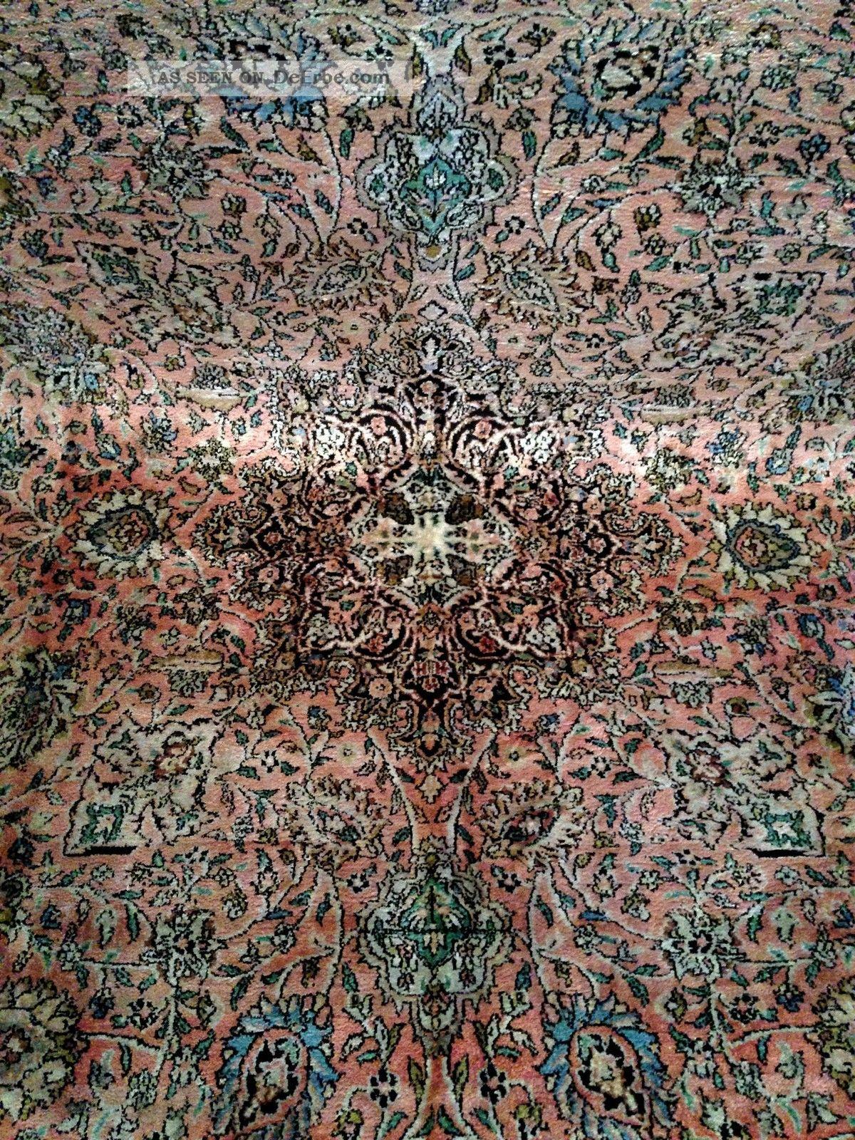 teppich handgekn pft kaschmir seide natur275x175cm carpet tappeto tapis top12000. Black Bedroom Furniture Sets. Home Design Ideas