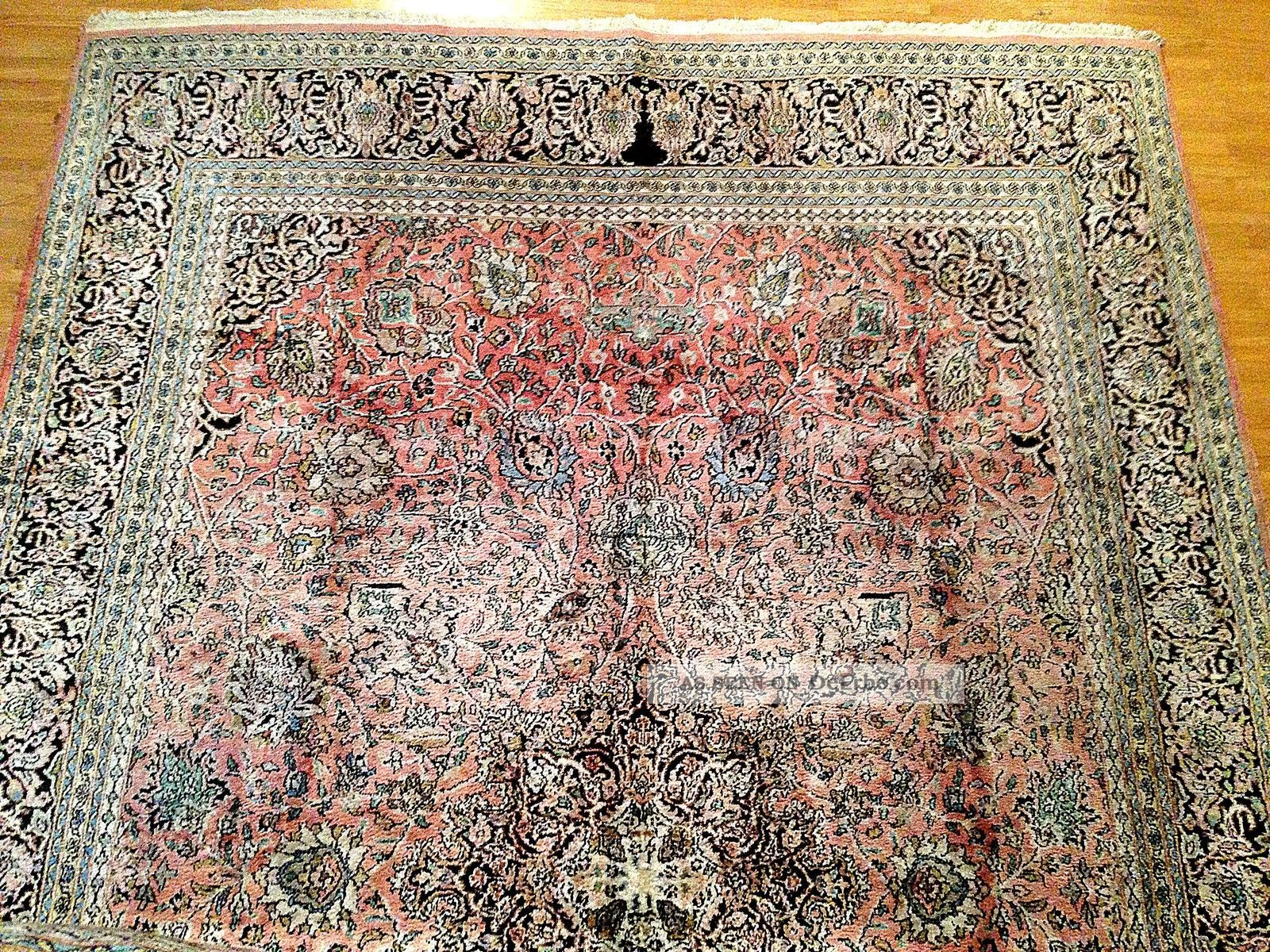 Teppich Handgeknüpft Kaschmir Seide Natur275x175cm Carpet
