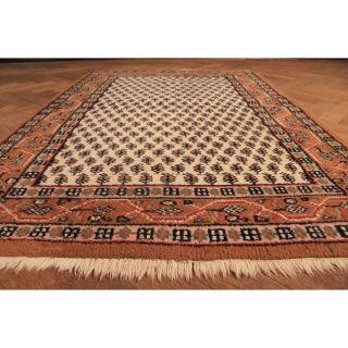Schöner Handgeknüpfter Orient Teppich Blumen Mir Old Carpet Sa Rug 180x120cm Bild