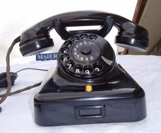 Telephone W48 Telefon F.  Merk Telefono 100 Funktion Bakelit Post Luxus Bild
