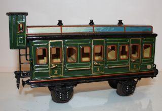 Märklin Abteilwagen 1866 Mit Bremserhaus (baujahr 1906 - 1911) Spur 1 - Top - Zust Bild