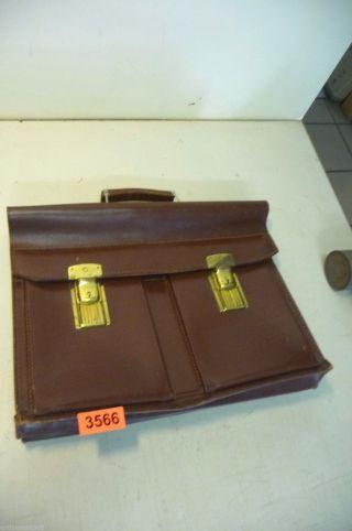 Nr.  3566.  Alte Tasche Leder Tasche Aktentasche Bild