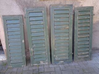 4 Stück Fensterladen/jalosie - Holz,  Grün Bild