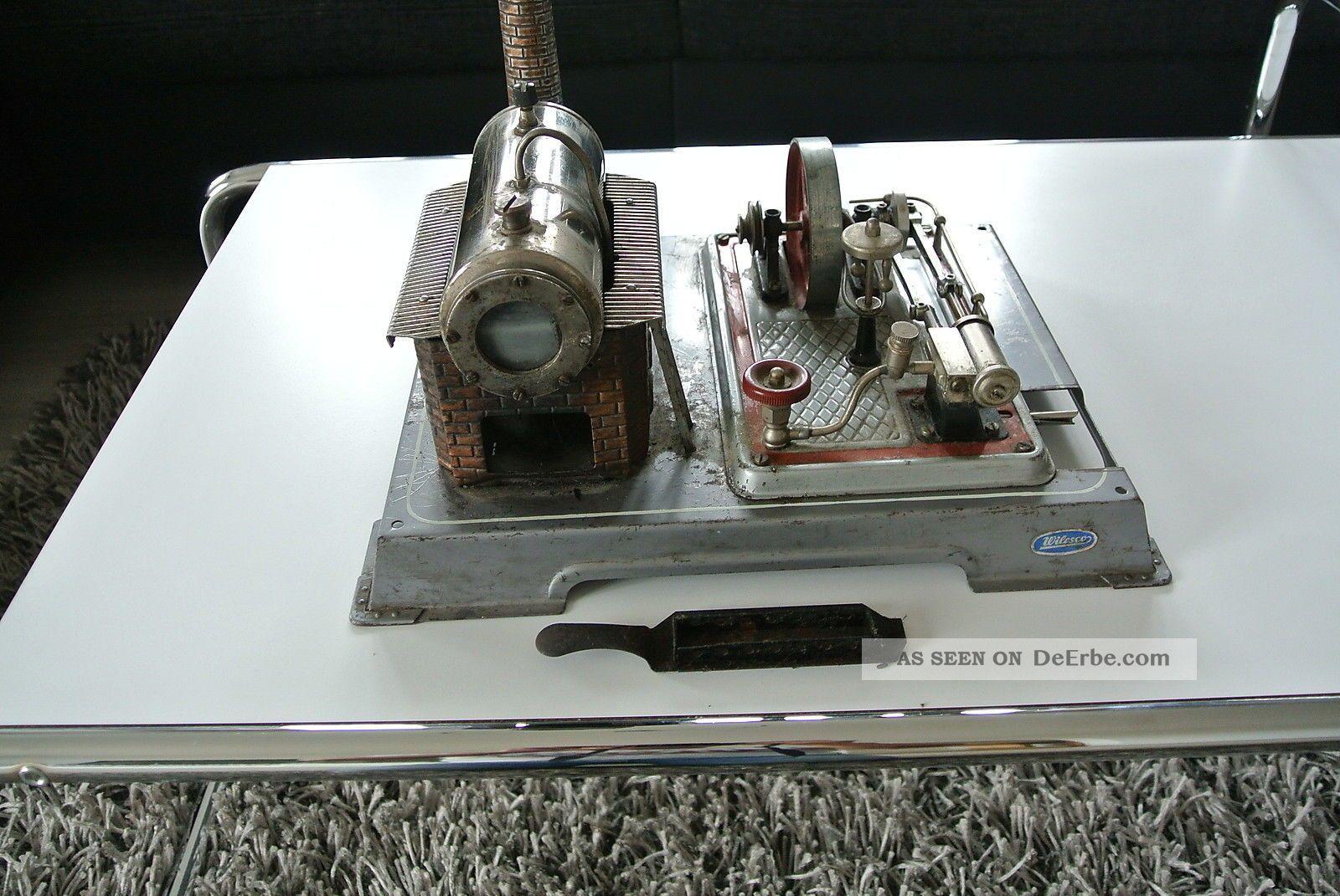 Alte Wilesco Dampfmaschine,  Schöner Gebrauchter,  60er Jahre Oder Früher Gefertigt nach 1945 Bild