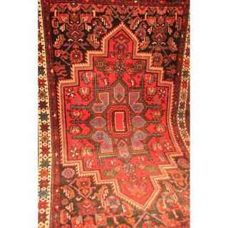 Alter Handgeknüpfter Orient Blumen Teppich Bidj Aha Carpet Rug Tapis 80x140cm Bild